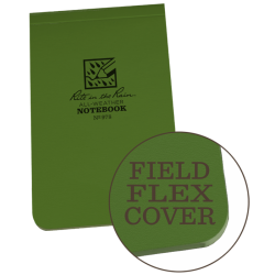 Green Top Bound Field Flex Notebook #978
