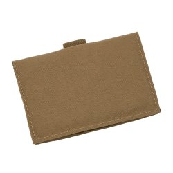 Index Card Wallet Tan Cordura fabric cover #C991T