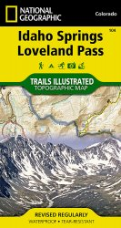 Trails Illustrated Colorado Series Idaho Springs / Loveland Pass