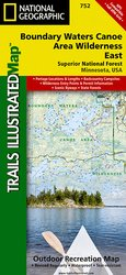 Trails Illustrated Boundary Waters Canoe Area - East Trail Map