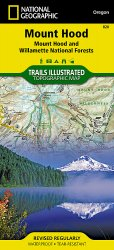 Mount Hood and Willamette National Forest Trail Map