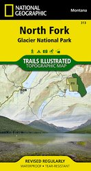 Trails Illustrated Glacier National Park :: North Fork Section