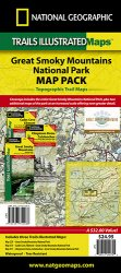 Trails Illustrated Great Smoky Mountain Map Pack Bundle