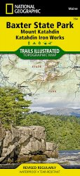 Trails Illustrated Baxter State Park / Mount Katahdin