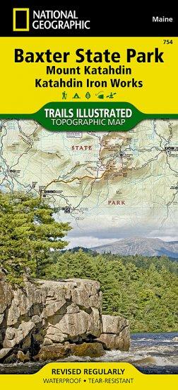 Trails Illustrated Baxter State Park / Mount Katahdin [ti754 ...