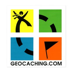 "Geocaching.com 3"" x 3\"" Vinyl Sticker"