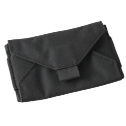 Index Card Wallet Black Cordura fabric cover #C991B
