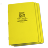 STAPLED NOTEBOOK - FIELD FLEX - METRIC GRID - YELLOW - 3 PACK