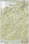 Cades Cove Elkmont Smoky Mountain Sectional Map