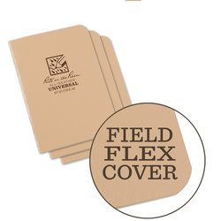 STAPLED MINI NOTEBOOK - UNIVERSAL - Tan - 3 PACK