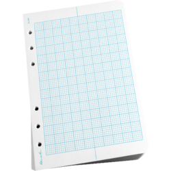 "Loose Leaf Filler Paper 4 5/8"" x 7\"" Metric Field"