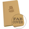 "Universal Tan Bound Book Fab Cover 4 3/4"" x 7 1/2"" #970TF"