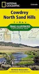 Trails Illustrated Colorado Cowdrey/North Sand HillsTrail
