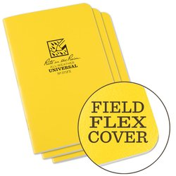 STAPLED NOTEBOOK - UNIVERSAL - YELLOW - 3 PACK