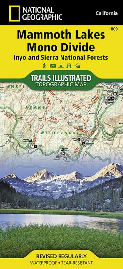 Trails Illustrated Mammoth Lakes And Mono Divide Trail Map Ti - Mammoth mountain trail map