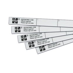 Geocache Nano Log Strips (set of 5)