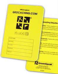 Geocache.com Official Medium RITR - 24 Sheet Logbook