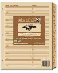 Rite in the Rain Alpha Tab Set for Maxi Planner 9270-MX