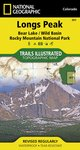 Trails Illustrated Longs Peak Bear Lake Rocky Mountain NP