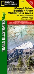 Trails Illustrated Mount Baker Boulder river Wilderness Area