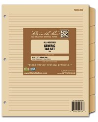 Rite in the Rain Generic Tab Set for Maxi Planner 9271-MX