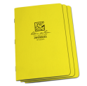 STAPLED NOTEBOOK - FIELD FLEX - JOURNAL - YELLOW - 3 PACK