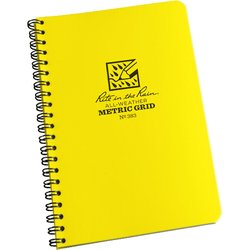 Side Spiral Notebook Metric Grid #383