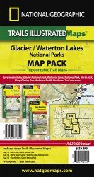 Trails Illustrated Glacier National Park Sectional Bundle