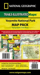 Trails Illustrated Yosemite Sectional Map Pack Bundle