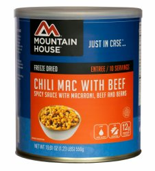 Mountain House Chilimac with Beef #10 Can