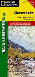 Trails Illustrated Shaver Lake Trails Map