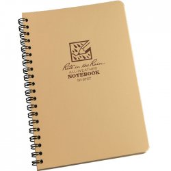 Rite in the Rain All-Weather Notebook Side Spiral Tan
