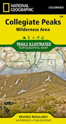 Trails Illustrated Collegiate Peaks Wilderness trail map