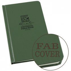 "Universal Green Bound Book Fab Cover 4 3/4"" x 7 1/2\"" #970F"