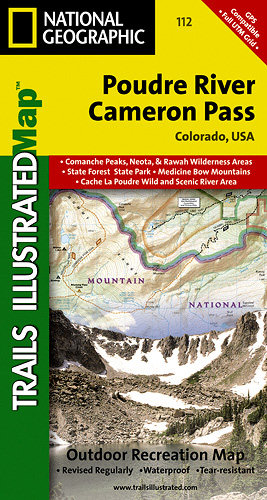 Trails Illustrated Colorado Series Poudre River/Cameron Pass Tra