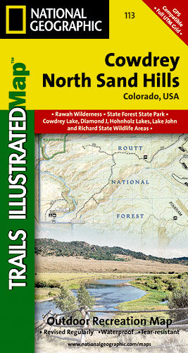 Trails Illustrated Colorado Series Cowdrey/North Sand Hills Trai