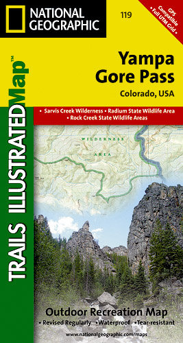 Trails Illustrated Yampa/Gore Pass Trail Map