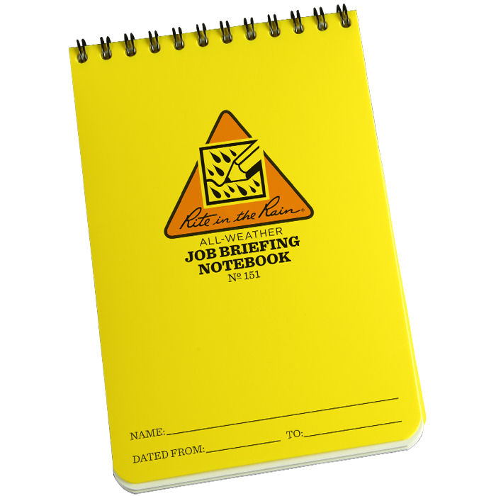 All-Weather Job Briefing Notebook 4 x 6