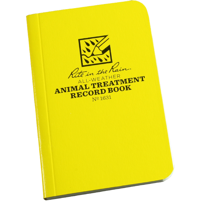 "Animal Treatment Record Book 3"" x 4 5/8"""