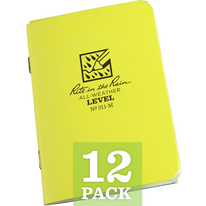 "Level Mini Stapled Notebook 3 1/4"" x 4 5/8"" (per dozen)"