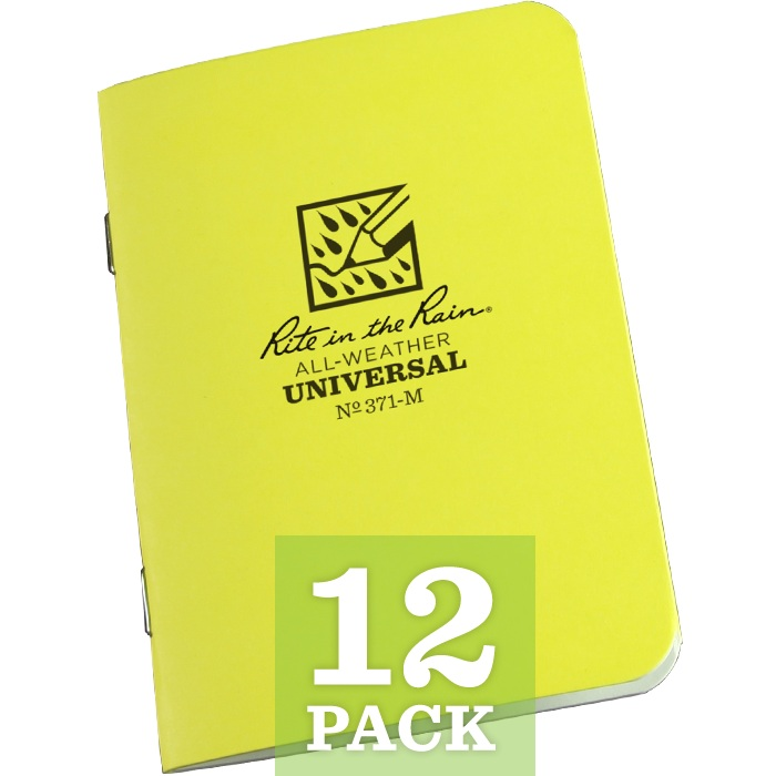 "Universal Mini Stapled Notebook 3 1/4"" x 4 5/8"" (per dozen)"