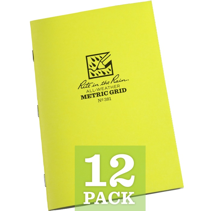 Rite in the Rain Stapled Notebooks Metric Grid (per dozen)