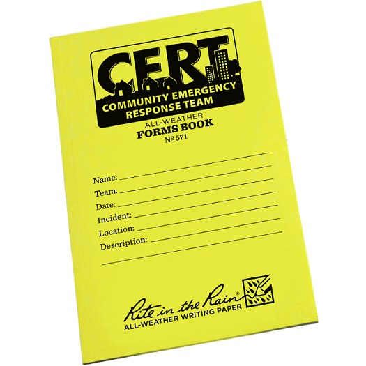 CERT All-Weather Forms Book Field flex Cover