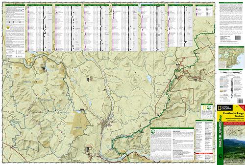 White Mountains (Presidential Range, Gorham) [ti741] - $9.95 : Trail ...