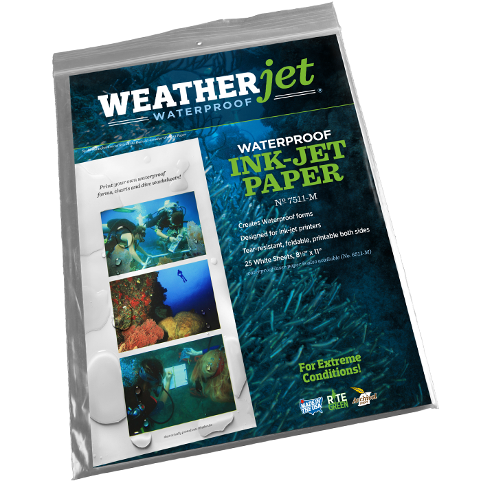 Weatherjet Ink Jet Copier Paper 25 sheet pack