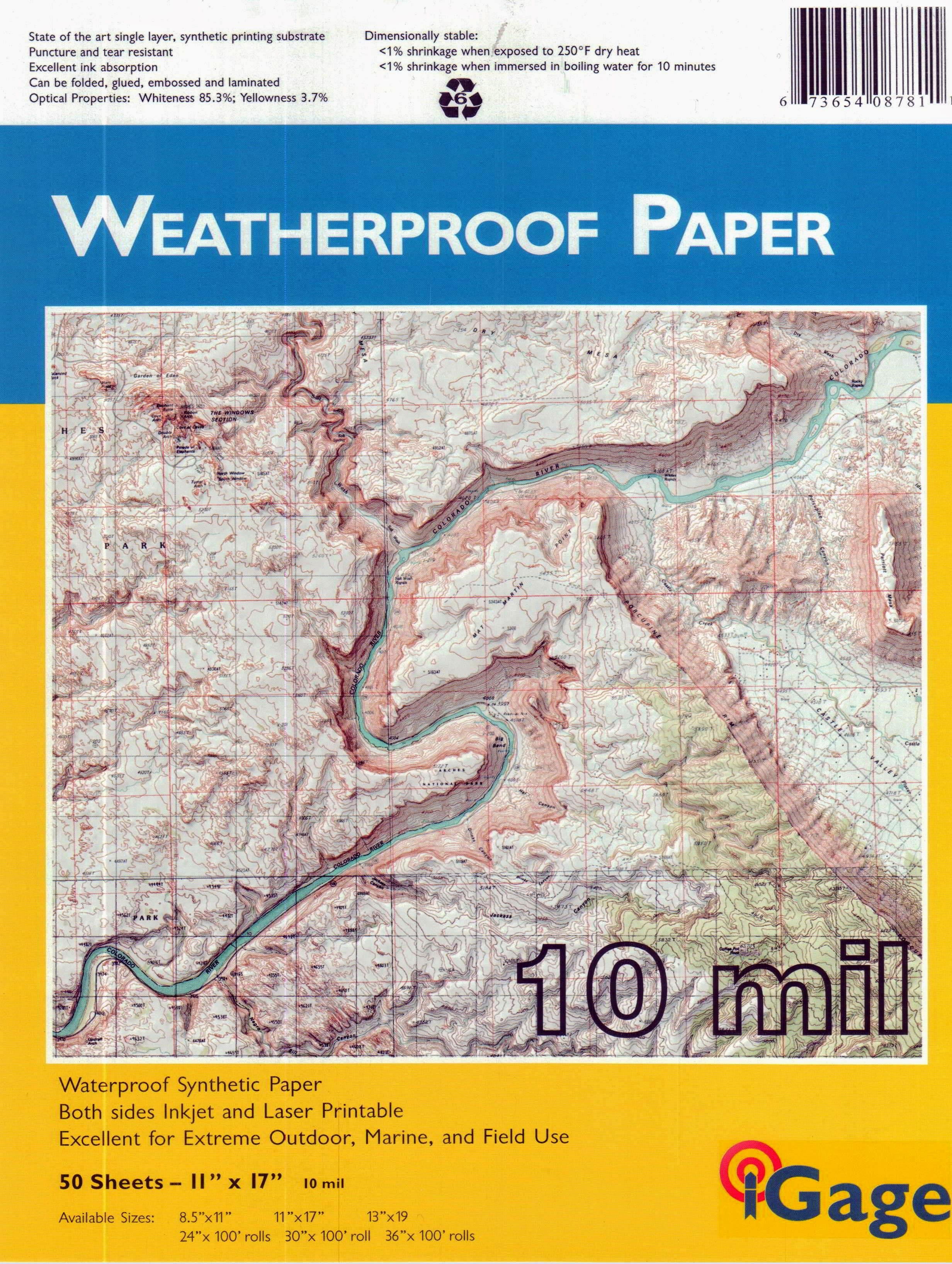 "iGage All-Weather Paper Laser/Inkjet 11"" x 17"" 50 sheets"