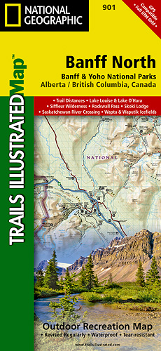 Trails Illustrated Banff North
