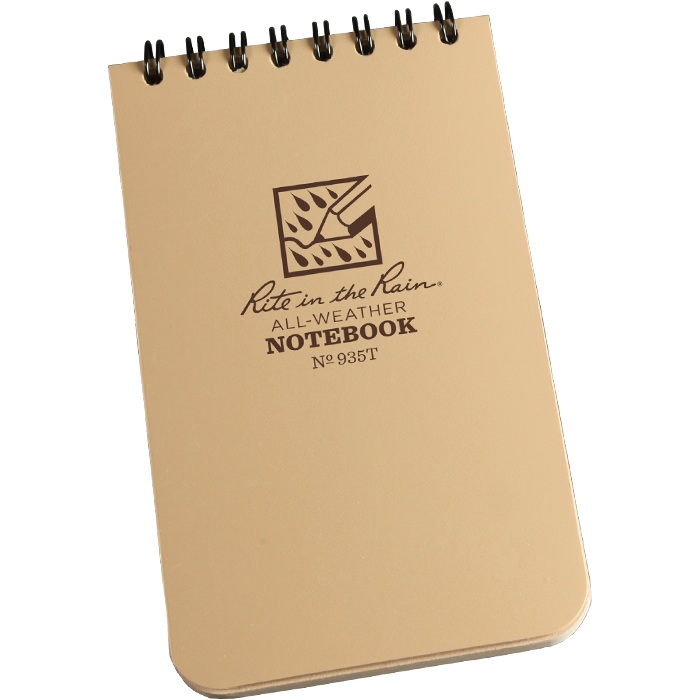Rite in the Rain Tactical Notepad 3 x 5 Tan