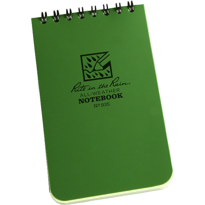 Rite in the Rain Tactical Notepad 3 x 5 Green