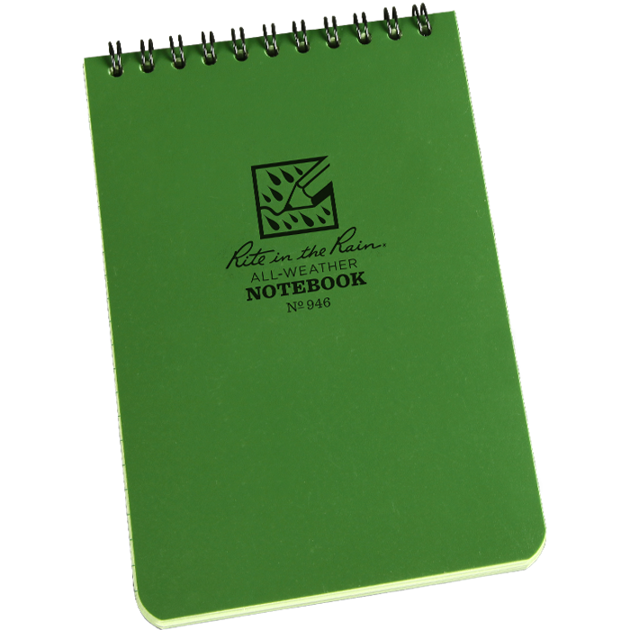Rite in the Rain Tactical Notebook 4 x 6 Green